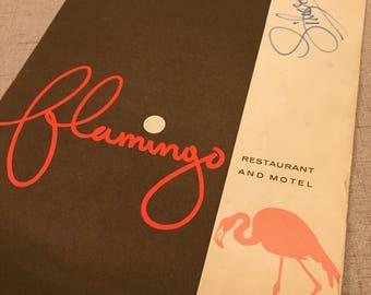 Flamingo Hotel Menu Signed by George Liberace, Las Vegas, Restaurant and Motel, Famous, Autograph