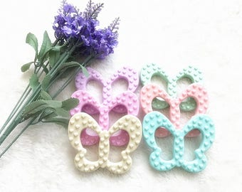 5 pcs Butterfly Infant Teethers Silicone Toothbrush Training Health Baby Teethers Safety Stick Chews Baby Dental Care 6 Colors