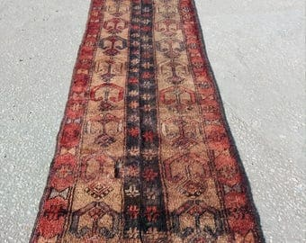 Vintage Oushak Rug,Turkish Rug,Stitched Rug2x9ft,Home Living, Area Rug,Fashion Rug,Art Rug,Runner Rug,Rugs