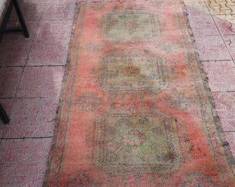 Turkish Oushak Rug,Vintage Rug,3x6 feet,Home Living,Area Rug,Home Decorative Rugs,Turkish Wool Rug,, Rugs,Turkish Rug,