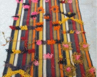 Vintage Oushak Rug,Turkish Rug,3x6feet,Area Rug,Home living,Print Pattern Rug,Vintage Rug,Wool Rug,Rugs,Home decor,Fashion Rug,