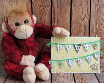 Baby Shower Card,Baby Boy Card,Newborn Baby Card,Baby Congrats Card,Baby Boy Gift,Baby Boy Shower Gift,Baby Gift,Baby Boy Shower,Baby Animal