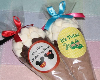 HOT COCOA FAVORS--for Any Occasion--Hot Cocoa, Baby Shower Favors, Bridal Shower Favors, Cocoa Favors, Holiday Cocoa