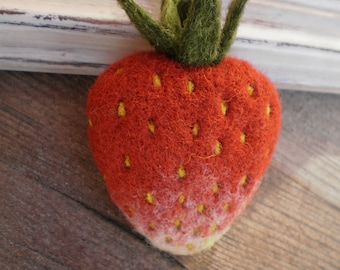 Brooch Strawberries Brooch berry Berry red Strawberry decoration
