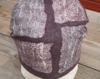 felted hat wool hat winter hat Demi-season hat Womens hat