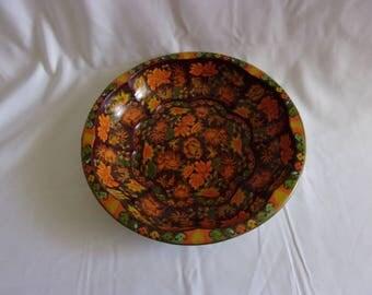 Vintage Antique 1971 Daher Decorated Ware Metal Bowl