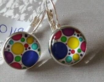 Earrings small polka dots