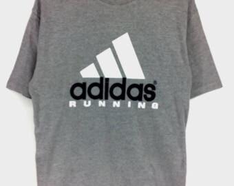 Rare !!! Vintage ADIDAS Tshirt Spellout Big Logo Rap Tees Hip Hop Swag Size M