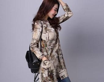 Autumn Linen Women Tops