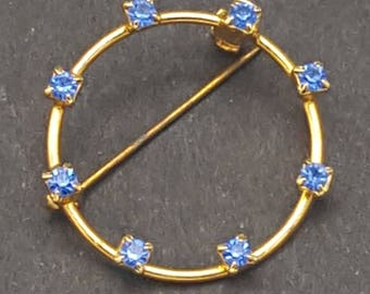 Vintage Gold Sapphire-Colored pin