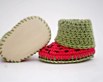 Crochet Baby Booties,Crochet Baby Slippers,Handmade Baby Shoes,Baby Shoes for Girls,Soft Baby Shoes,Infant Shoes for Girls,Leather Shoes