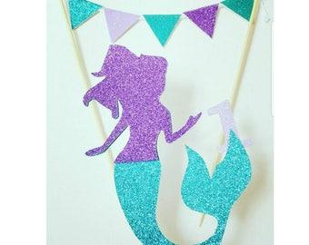Mermaid topper,Mermaid party,Mermaid Smash cake