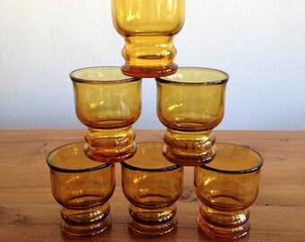 6 glasses for pastis, Pernod - Ricard - vintage - France