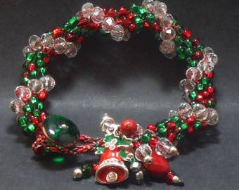 Christmas Bracelet with Bell Charm