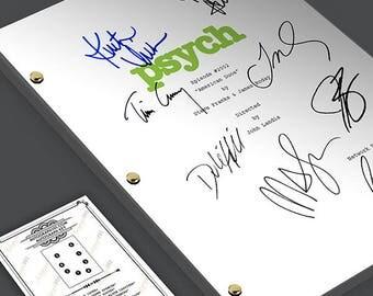 "Psych - Episode ""American Duos"" TV Script Screenplay Signed Autograph Reprint - James Roday, Dule Hill, Timothy Omundson, Corbin Bernsen"