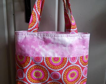 Mini Tote - Red and Pink