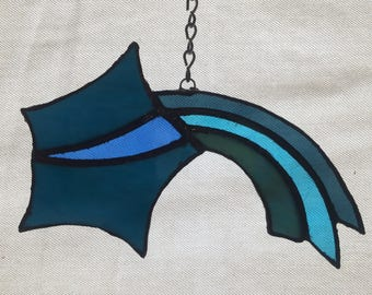 Stained Glass Shooting Star Sun Catcher