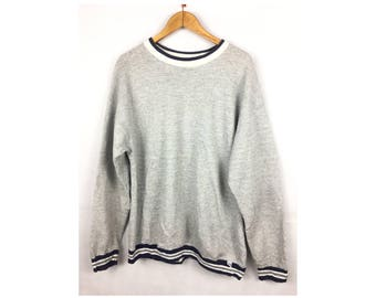 DISCUSS ATHLETIC Long Sleeve Sweatshirt Pull Over Sportwear Large Size Made In USA by Tultex