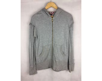 TOMMY HILFIGER Long Sleeve Hoodies Small Size Hoodies Fully Zipper