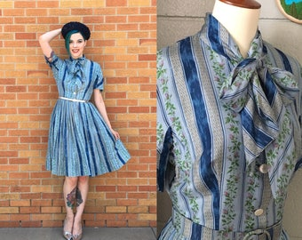 1950's Vera Maxwell Fit and Flare Dress