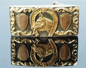 Vintage Mexican Silver & Gold Buckle