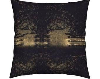 2 Copper & Noir Decorative Pillow