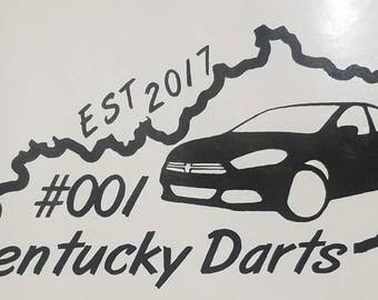 Kentucky Darts member decal