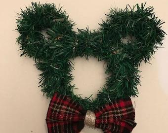 Mini Plaid Bow Tie Wreath