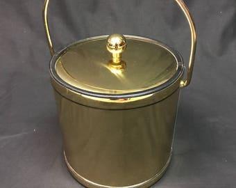 Vintage Gold Hollywood regency Ice Bucket