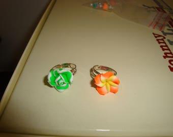 set of 2 ring adjustable children flowers Islands