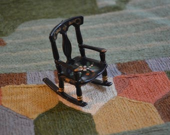Handpainted Dollhouse Renewal Rocking Chair