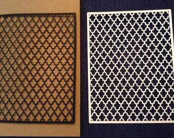 Lattice panel (mosaic design) (3) paper die cut embellishment