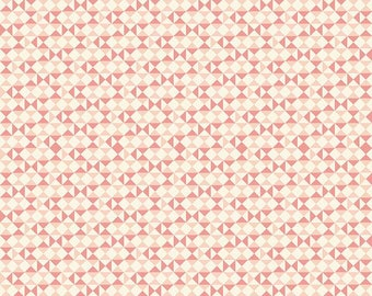 Riley Blake: Vintage Daydream C5564, Pink geometrical fabric, fabric by the yard