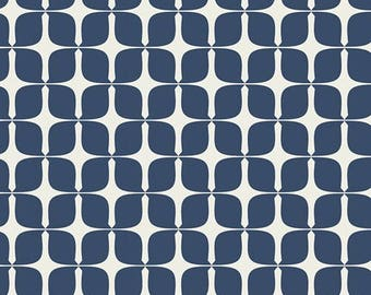 Art Gallery Blush Mod Paper Indigo 100 % cotton Quilting fabric BSH-78405.  By the yard, cut to order