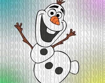 Frozen  Disney Olaf svg, Disney Olaf  eps,  Frozen Clipart,  Olaf Instant Download, Disney snowman , frozen eps, Frozen Vector