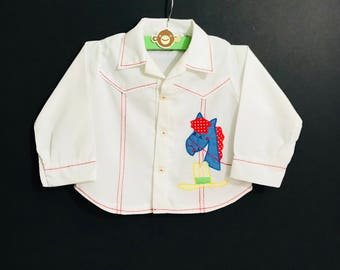 Vintage Western Style Baby Shirt