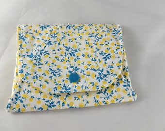 Small pouch gift idea-yellow flower motifs