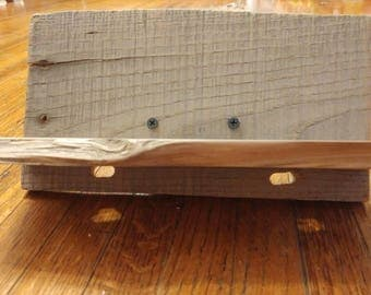Reclaimed Wood Double Charging Stand