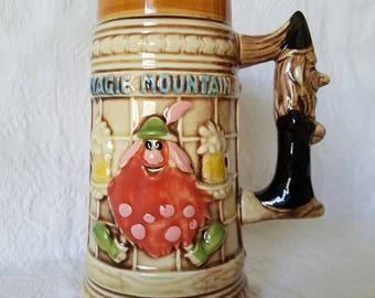 Vintage Souvenir Beer / Magic Mountain Beer Stein