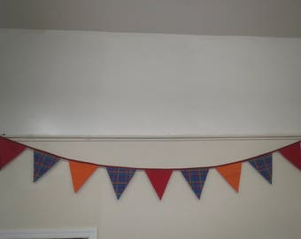 Plaid Bunting/ Fabric Bunting/ Party Decoration/Flags/ Party Supplies/ Bunting Decor