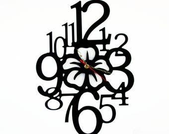 Fashion Art wall clock, Modern wall clock, Flower wall clock with numbers