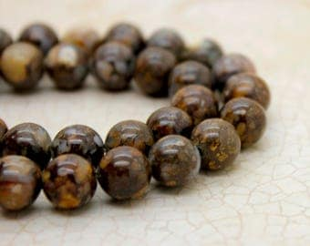 Picaso Jasper Smooth Round Natural Gemstone Beads (6mm 8mm 10mm)