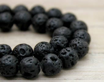 Lava Round Gemstone Beads (4mm 6mm 8mm 10mm)