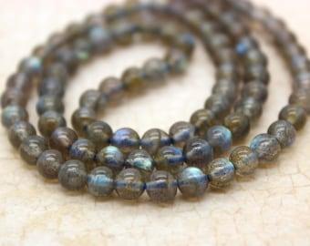 Labradorite Round Gemstone Beads (2mm 4mm 5mm 8mm)