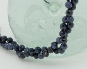 Natural Sapphire Round Faceted Ball Sphere Gemstone Loose Bead Beads 3mm 4mm
