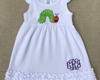 The Very Hungry Caterpillar Dress, Caterpillar Birthday Dress, Back to school dress