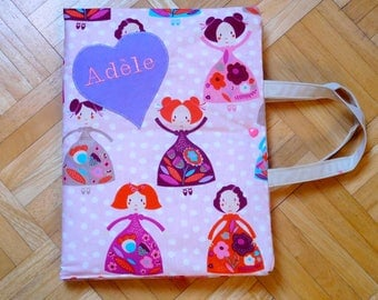 dress handkerchief with nomadic design for little artists to order...