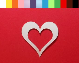 "24 Heart Die Cuts - 2"" x 2"" - Choose a Color - Cardstock Paper Hearts - Heart Embellishments - Scrapbooking - Card Making"