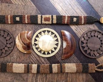 Earthy tribal bracelets