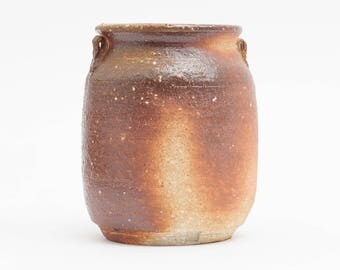 Woodfired ceramic vase, handmade pottery, anagama fired pottery, flower vase or for decoration